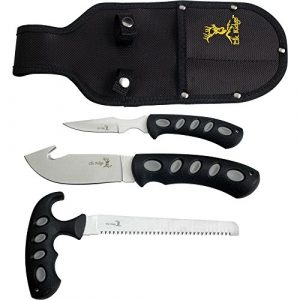 Elk Ridge  1 Elk Ridge - Outdoors 3-PC Hunting Knife Set - Satin Finish Stainless Steel Blades