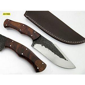 Poshland Fixed Blade Survival Knife 1 SK-1163, Custom Handmade Hi Carbon Steel Skinner Knife - Beautiful Rose Wood Handle