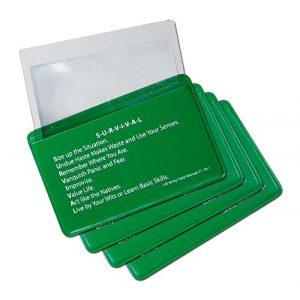 5col Survival Supply Survival Fire Starter 1 5col Survival Supply Fresnel Lens 4-Pack Credit Card Size Pocket Magnifier & Firestarter