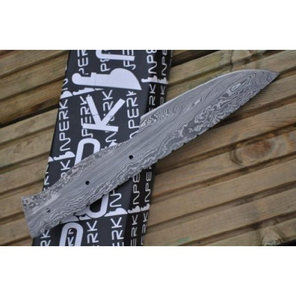 Perkin Fixed Blade Survival Knife 1 Perkin Sale - Damascus Steel Blade for Making Your Own Hunting Knife