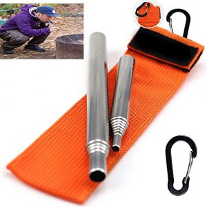 Dingjiang  1 Dingjiang 2 Size Pack Pocket-Size Fire Bellows Collapsible Fire Blower Pipe Builds Campfire Whit Bag