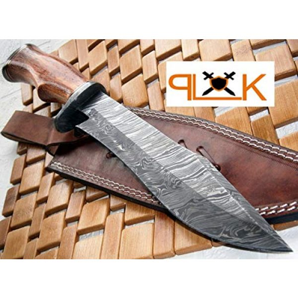 Poshland Fixed Blade Survival Knife 1 REG-215 - Handmade Damascus Steel 14.00 Inches Bowie Knife - Exotic Wood Handle (Color/Case Vary)