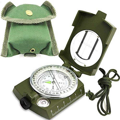 ydfagak Survival Compass 1 ydfagak Compass, Waterproof Hiking Military Navigation Compass with Fluorescent Design,Perfect for Camping Hiking and Other Outdoor Activities