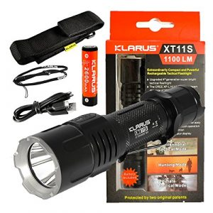klarus  1 klarus Newest XT11-S 1100 Lumens USB Rechargeable Tactical Flashlight w/CREE XM-L HI V3 LED