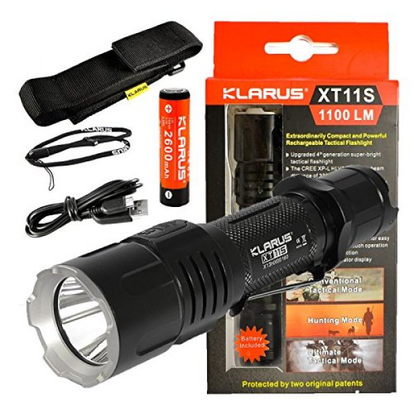 klarus Survival Flashlight 1 klarus Newest XT11-S 1100 Lumens USB Rechargeable Tactical Flashlight w/CREE XM-L HI V3 LED