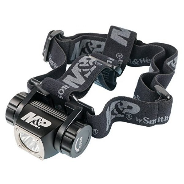 Smith & Wesson Survival Flashlight 1 Smith & Wesson M&P Delta Force HL 3xAAA 430 Lumen Headlamp with 6 Modes, Waterproof Construction and Memory Retention for Survival, Hunting and Outdoor, Blue
