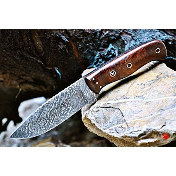 Bobcat Knives Fixed Blade Survival Knife 1 Bobcat Knives Custom Handmade Bushcraft Hunter Skinner EDC Knife Damascus Steel