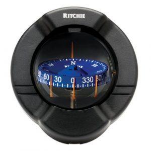 "E.S. Ritchie Survival Compass 1 Compass, Bulkhead, 3.75"" Combi, Black"