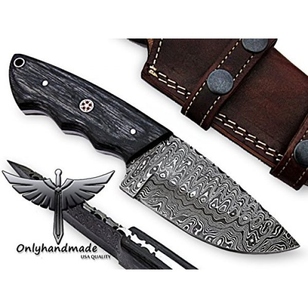 "onlyhandmade Fixed Blade Survival Knife 1 onlyhandmade 7.75"" Beautiful Damascus Knife Made of Remarkable Damascus Steel and Exotic Wood -Its A Hunting Knife with Sheath OHM-058"