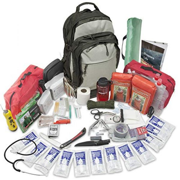 Emergency Zone Survival Kit 1 Emergency Zone Stealth Tactical 2 Person Bug-Out Bag  3 Day Go-Bag with Waterproof Covering & 2 Person Dome Tent & Hydration Bladder