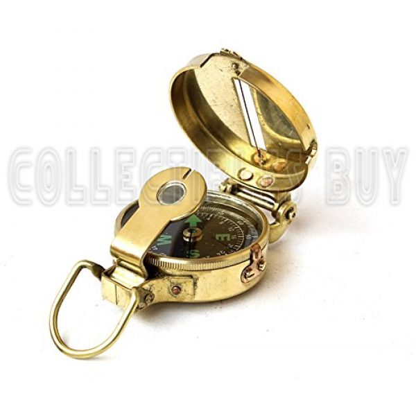 collectiblesBuy Survival Compass 1 collectiblesBuy Vintage Old Style Military Compass Nautical Pocket Shiny Brass Navigational Instrument