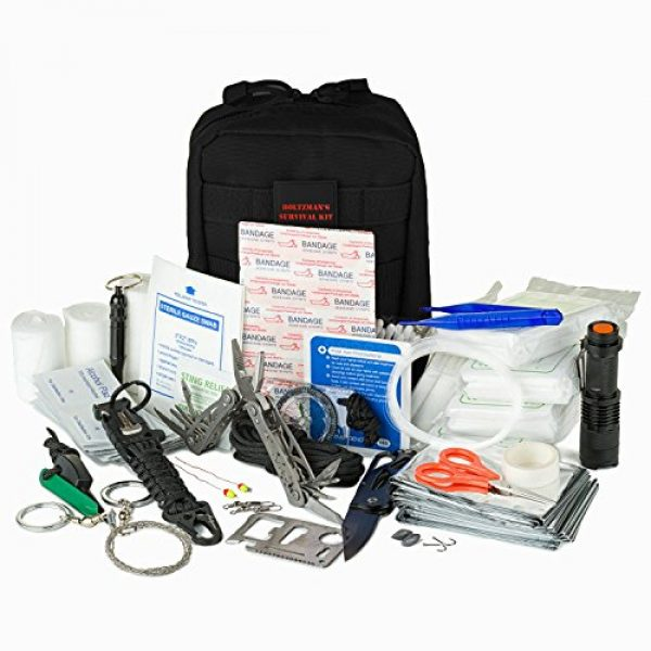Holtzman's Gorilla Survival Survival Kit 1 Emergency Survival Kit | Ultimate 98-in-1 Outdoor Multi-Tools for Camping, Hiking, Hunting & Fishing | First Aid Supplies | All Inclusive Survival Gear with Box for Campers & Preppers