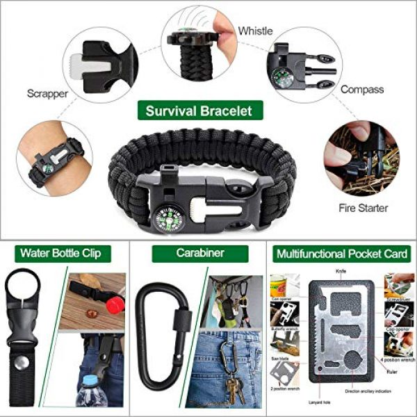 Gemagic Survival Kit 7 Survival Kit 35 in 1, First Aid Kit, Survival Gear, Survival Tool Gifts for Men Boyfriend Him Husband Camping, Hiking, Hunting, Fishing