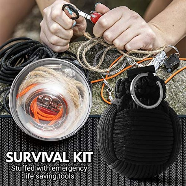 Holtzman's Gorilla Survival Survival Kit 6 Holtzmans Survival Kit Paracord Grenade The #1 Best 48 Tool Emergency kit