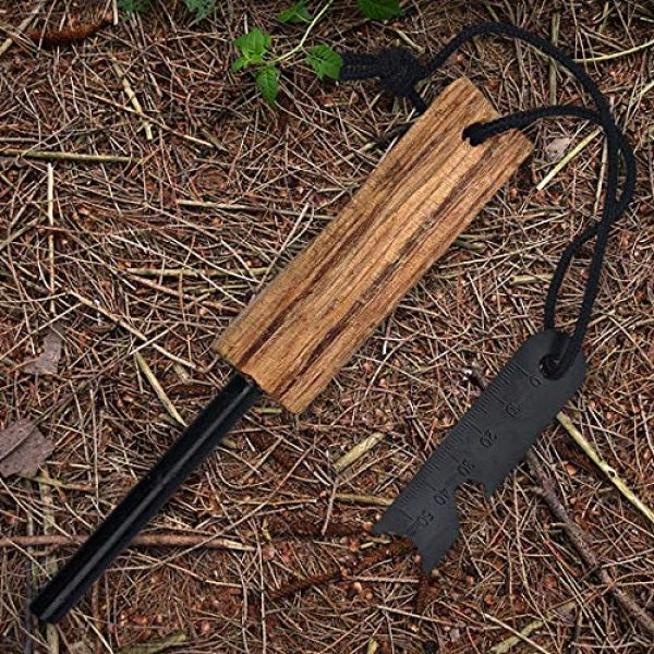 PBL Survival Fire Starter 1 PBL Ferro Rod with Natural Fatwood Handle Handmade in USA Survival Emencery Camping Hunting Backpacking Fishing
