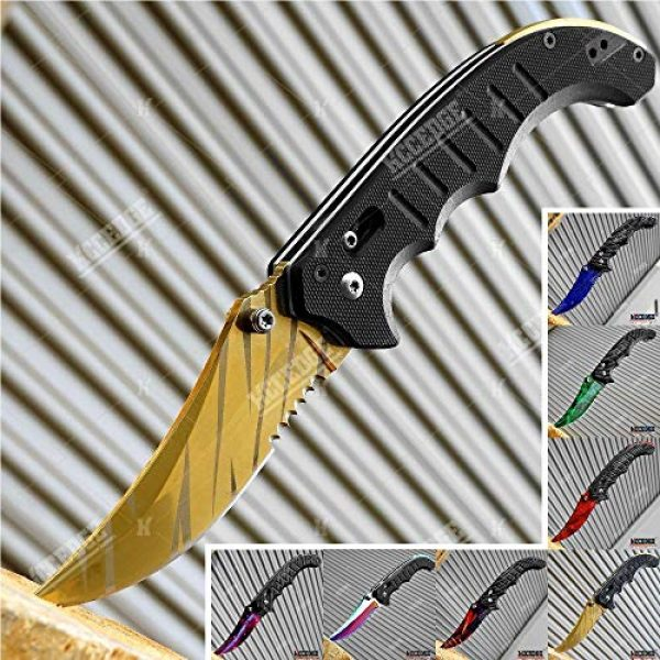 KCCEDGE BEST CUTLERY SOURCE Folding Survival Knife 1 KCCEDGE BEST CUTLERY SOURCE EDC Pocket Knife Camping Accessories Razor Sharp Edge Manual Open Folding Knife for Camping Gear Survival Kit Tactical Knife 51374