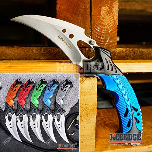 KCCEDGE BEST CUTLERY SOURCE  1 KCCEDGE BEST CUTLERY SOURCE EDC Pocket Knife Camping Accessories Razor Sharp Edge Karambit Folding Knife Camping Gear Survival Kit 56652