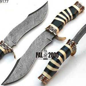 PAL 2000 KNIVES  1 Custom Handmade Damascus Steel Hunting Bowie Knife -Sword/Chef Kitchen Knife/Dagger/Full Tang/Skinner/Axe/Billet/Cleaver/Bar/Folding Knife/Kukri/knives accessories/survival/Camping With Sheath 9177