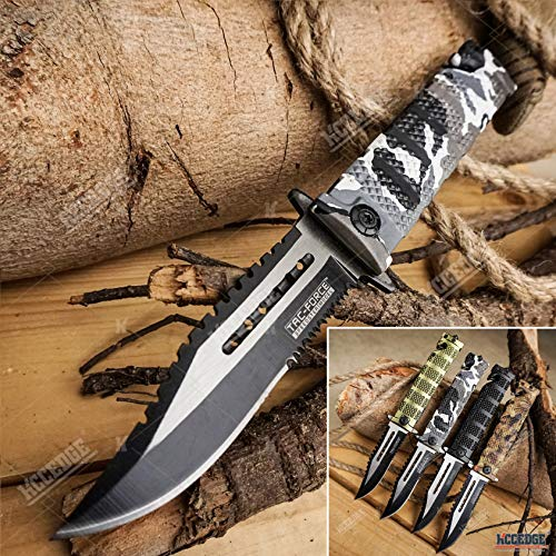 KCCEDGE BEST CUTLERY SOURCE  1 KCCEDGE BEST CUTLERY SOURCE Pocket Knife Camping Accessories Survival Kit Razor Sharp Serrated Clip Point Survival Folding Knife Camping Gear Survival Kit EDC 55419