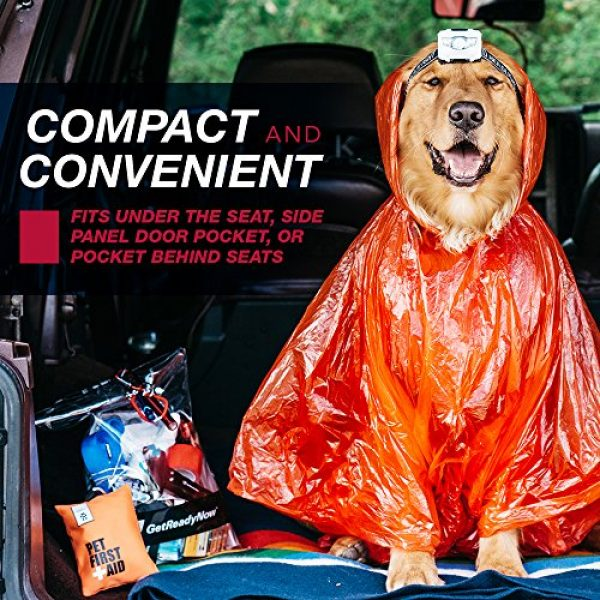 GetReadyNow Survival Kit 4 GETREADYNOW Pups & Peeps Emergency Survival Kits - Essential First Aid + Deluxe Supplies to Keep Your Four-Legged Friend Safe While on The Road, Camping, Hiking, or Unexpected Dog Park Emergencies