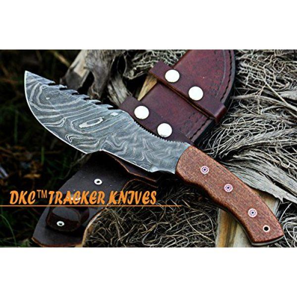 "DKC Knives Fixed Blade Survival Knife 1 DKC Knives (16 6/18) DKC-400 DS Sierra Tracker Damascus Survival Prepper Hunting Knife Mahogany Micarta 12"" Long, 6"" Blade 13ozl Damascus Steel Blade Very Solid Knife"