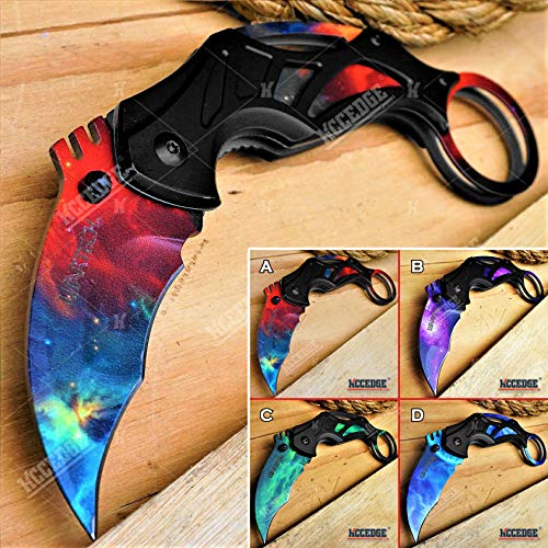 KCCEDGE BEST CUTLERY SOURCE  1 KCCEDGE BEST CUTLERY SOURCE Pocket Knife Camping Accessories Survival Kit Razor Sharp 7 Inch Karambit Tactical Knife Hunting Knife Camping Gear 78609