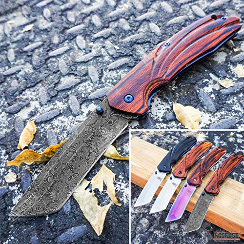 KCCEDGE BEST CUTLERY SOURCE  1 KCCEDGE BEST CUTLERY SOURCE EDC Pocket Knife Camping Accessories Razor Sharp Edge Tanto Blade Folding Knife for Camping Gear Survival Kit 58694