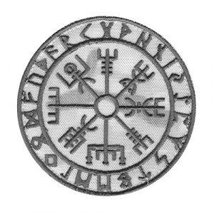 LEGEEON  1 LEGEEON Multicam Alpine Vegvisir Viking Compass Norse Rune Heathen Tactical Morale Fastener Patch