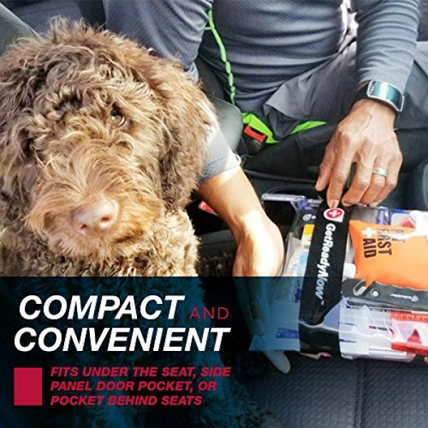 GetReadyNow Survival Kit 7 GETREADYNOW Pups & Peeps Emergency Survival Kits - Essential First Aid + Deluxe Supplies to Keep Your Four-Legged Friend Safe While on The Road, Camping, Hiking, or Unexpected Dog Park Emergencies