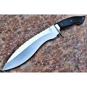 Bobcat Knives Fixed Blade Survival Knife 1 Bobcat Knives Custom Handmade Khukri Kukri Knife D2 Tool Steel Fully Functional with Leather Sheath