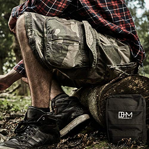 D AND H MEDICAL  6 D & H Medical Survival (IFAK) Trauma First Aid Kit for Emergencies. Includes Combat Action Tourniquet (CAT) and Much More. Great for Outdoor Gear for Camping Hiking Hunting Travel Car Adventures.