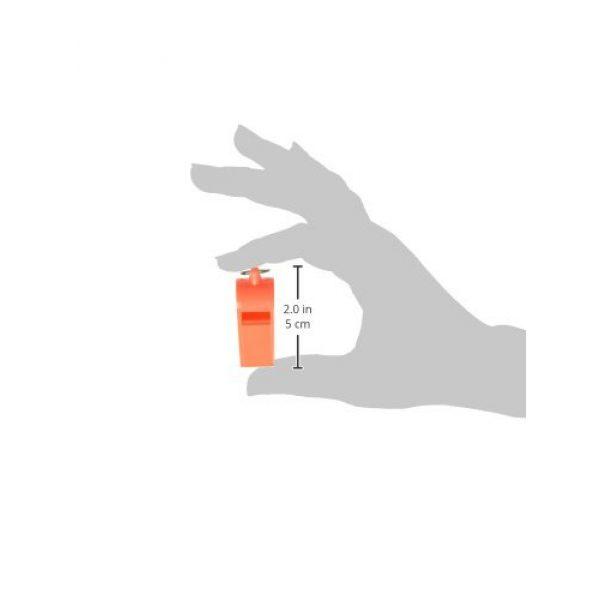 "SE Survival Whistle 5 SE Orange Plastic Whistles with 14"" Lanyards (100 PC.) - WH3-B-100"