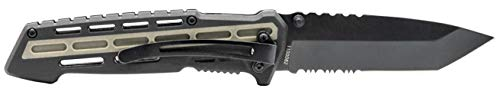 Smith & Wesson  2 Smith & Wesson M&P AR Overmold 8.2in High Carbon S.S. Folding Knife with 3.5in Serrated Tanto Blade and Rubber Handle for Outdoor Survival and EDC