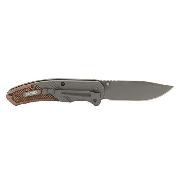 Old Timer Folding Survival Knife 2 Old Timer OT Wood 7in High Carbon S.S. Spring Assisted Folding Knife with a 3in Drop Point Blade and Ironwood Handle for Outdoor, Hunting, Camping and EDC