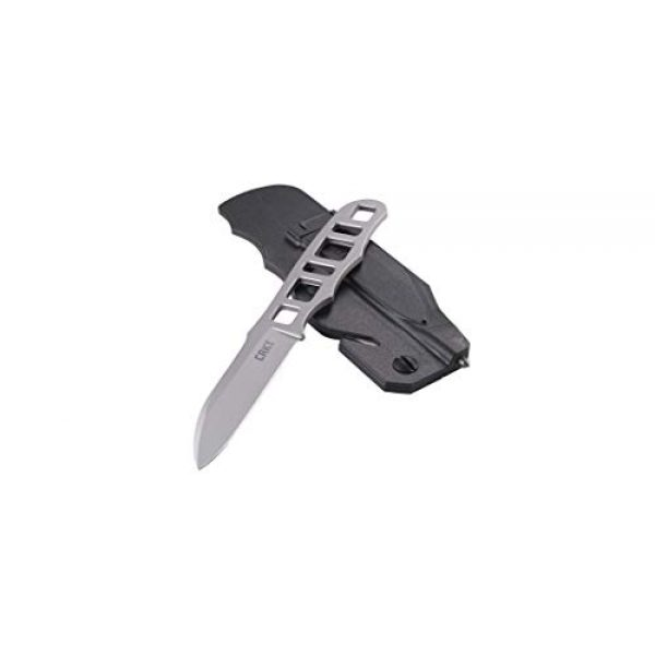 Columbia River Knife & Tool Fixed Blade Survival Knife 3 CRKT Terzuola Highway Rescue Fixed Blade Knife with Sheath: Utility Backup Knife, Bead Blast Blade, Skeletonized Handle, Glass Breaker and Seatbelt Cutter in Sheath 2065