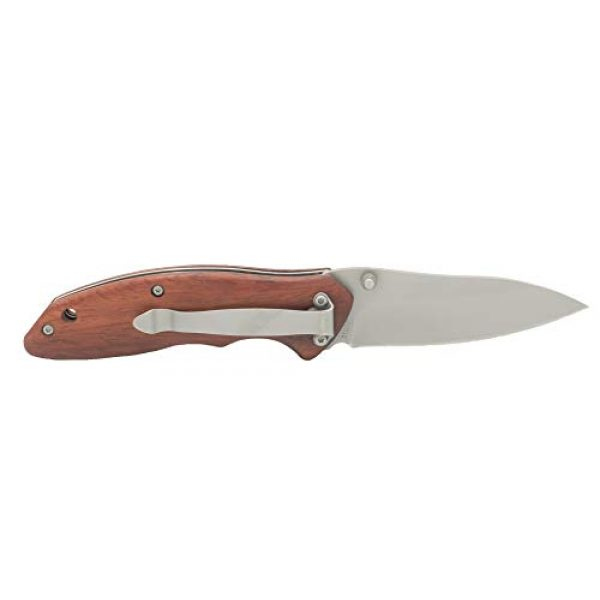 Old Timer Folding Survival Knife 2 Old Timer OT Rosewood 7in High Carbon S.S. Spring Assisted Folding Knife with a 3in Drop Point Blade and Ironwood Handle for Outdoor, Hunting, Camping and EDC