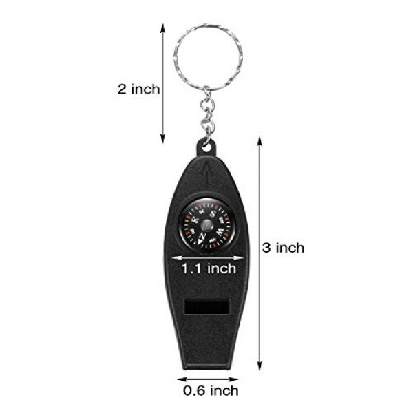 BBTO Survival Whistle 3 BBTO 16 Pack Multifunctional Whistle Compass Thermometer Magnifier Sports Multi-Function Whistle Emergency Survival Tool