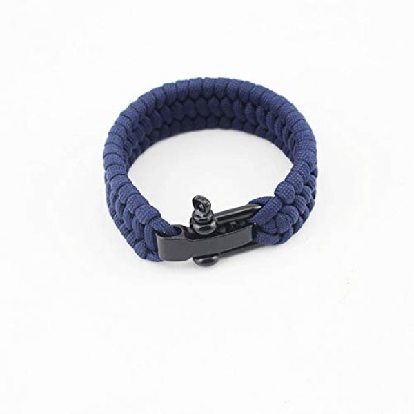 """AKZYTUE Survival Paracord Bracelet 2 AKZYTUE Paracord Survival Bracelet with Adjustable Stainless Steel D Shackle - Suitable for 7""""-9"""" Wrists"""