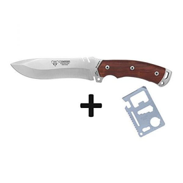Cudeman Fixed Blade Survival Knife 3 Cudeman Survival Knife 291-K Model Boina Verde Cadet, with Cocobolo Handle and Blade of 5.9 inches, Camping Tool for Fishing, Hunting, Sports Activity + Multifunction Gift Card