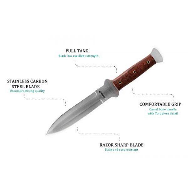 Perkin Fixed Blade Survival Knife 2 Perkin - Handmade Hunting Knife Fixed Blade Hunting Knife with Sheath Double Edge Blade