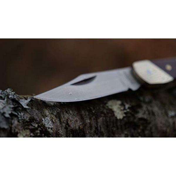 Uncle Henry Folding Survival Knife 6 Uncle Henry LB3 Brown Bear 5.1in High Carbon S.S. Folding Knife with a 2.2in Clip Point Blade and Wood Handle for Outdoor Survival, Camping and Hunting