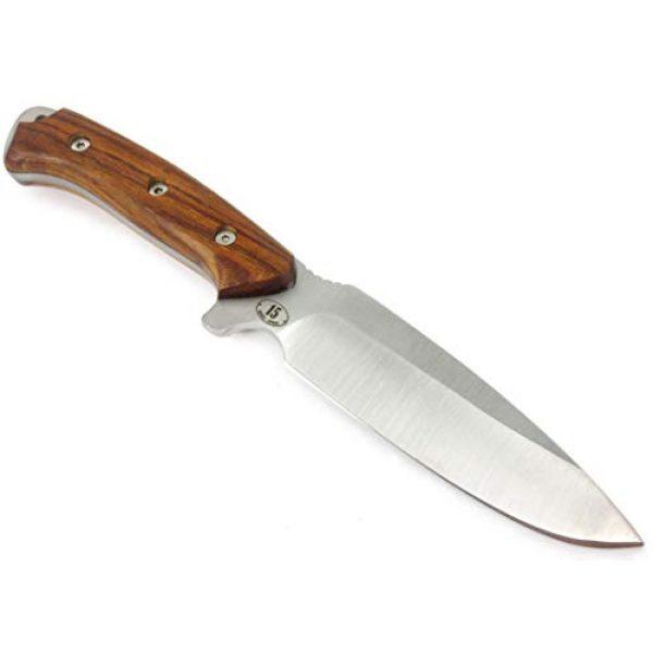 JEO-TEC Fixed Blade Survival Knife 3 JEO-TEC N15 Bushcraft Survival Hunting Knife - BOHLER N690C Stainless Steel, Multi-positioned Sheath - Handmade