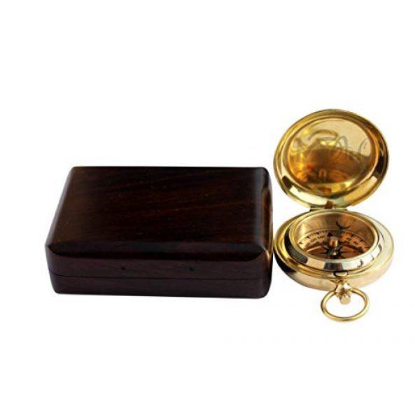 MAH Survival Compass 3 MAH Handmade Brass Push Button Engravable Direction Pocket Compass. C-3191