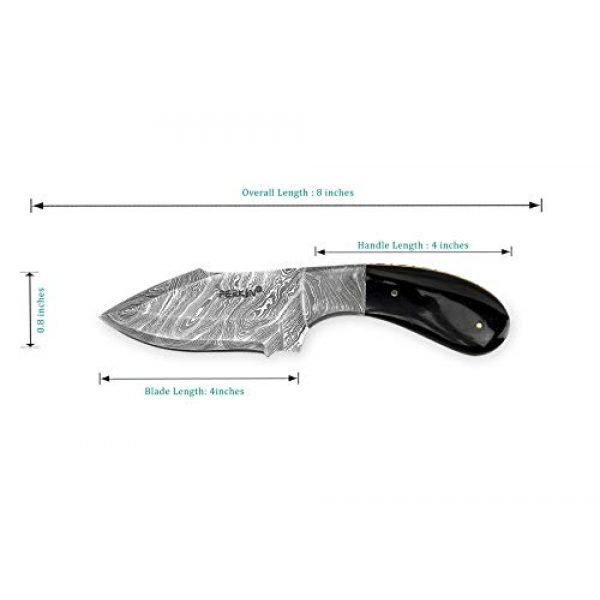 Perkin Fixed Blade Survival Knife 7 Perkin Knives - Handmade Damascus Hunting Knife