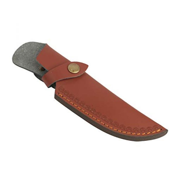 """TOURBON Fixed Blade Survival Knife 3 TOURBON 8"""" Fixed Blade Knife Sheath Belt Loop Case Hunting Holster Carrying Knives Leather Scabbard Pouch Bag"""
