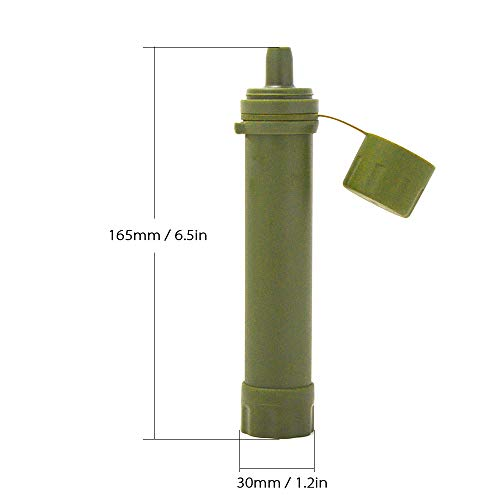 Lixada  2 Lixada Straw Water Filter Survival Filtration Portable Emergency Water Purifier for Hiking Camping Travel Outing Water Supply Preparedness