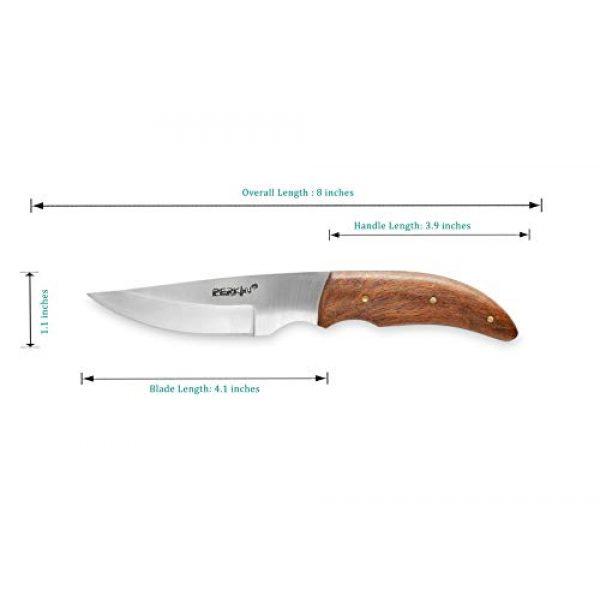 Perkin Fixed Blade Survival Knife 4 Perkin Handmade Bushcraft Hunting Knife - Full Tang Hunting Knife with Sheath