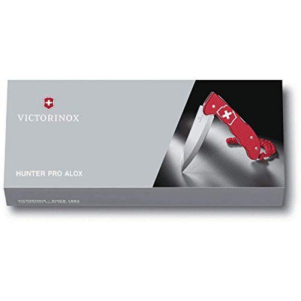 Victorinox Folding Survival Knife 7 Victorinox Hunter Pro M Alox Folding Knife Red Aluminium Handle - Red