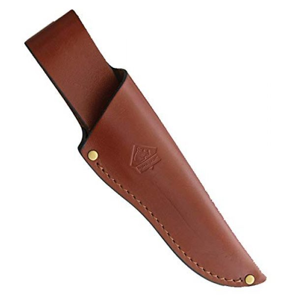 Puma Knives Fixed Blade Survival Knife 2 Puma SGB Highlander Stag Hunting Knife with Leather Sheath