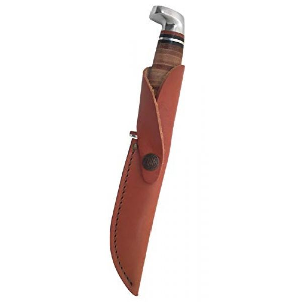 CASE XX Fixed Blade Survival Knife 3 CASE XX WR Pocket Knife Fixed Blade Polished Leather Item #381 - (316 5 SS) - Length Closed: 9 1/2 Overall Inches